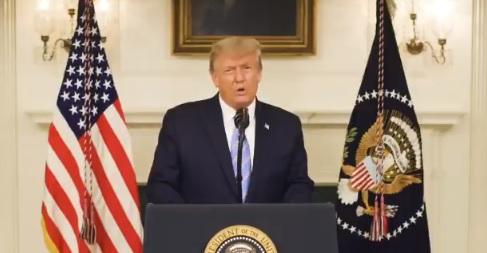 Trump admite su derrota y a los que asaltaron el Capitolio: