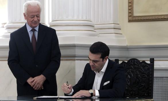 Tsipras jura de nuevo el cargo de primer ministro de Grecia