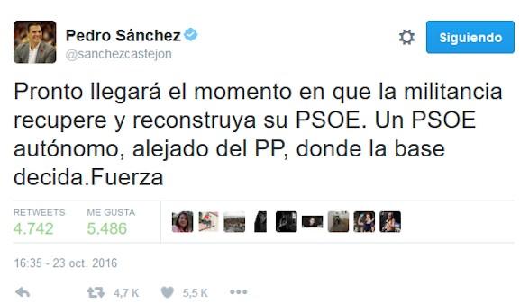 Sánchez, escondido: