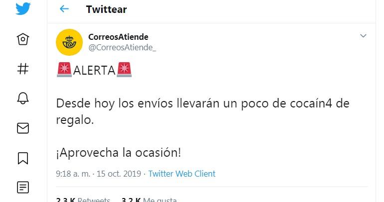 Hackean una cuenta de Correos: