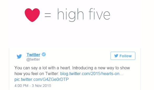 Twitter cambia su 'Favorito' por 'Me gusta': de la estrella al corazón