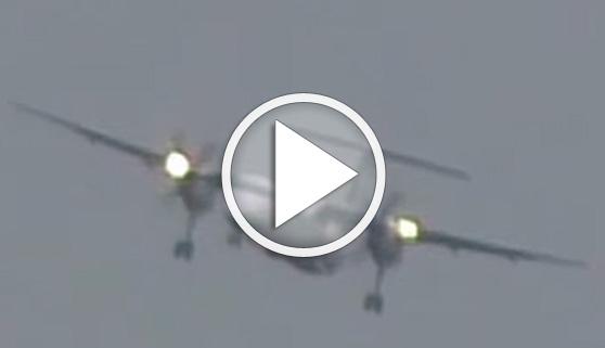 Vídeos virales. Un aterrizaje casi imposible, con vientos de 110 km/h