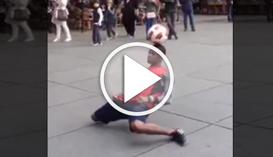 Vídeos virales. Un genio del balón
