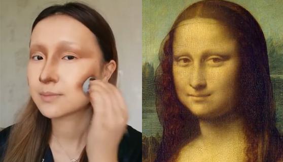 Una maquilladora da vida a la Mona Lisa con mucho arte