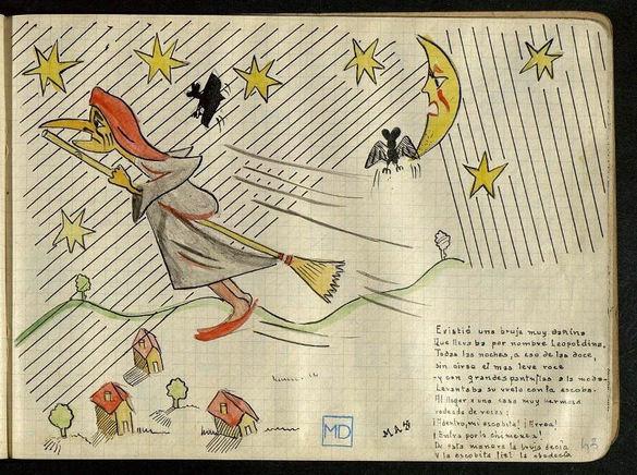 Una de las ilustraciones de 'La bruja Leopoldina', de Miguel Delibes