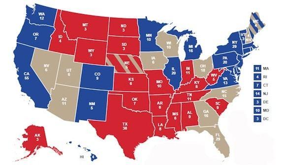 ¿Qué estados decidirán las elecciones?