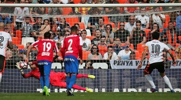 Valencia y Sporting logran un empate con sabor a poco |1-1