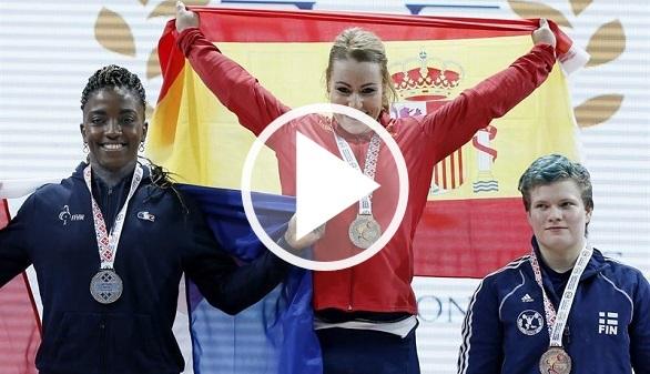 Halterofilia. Lydia Valentín gana sus cuartos Europeos con tres oros en Bucarest