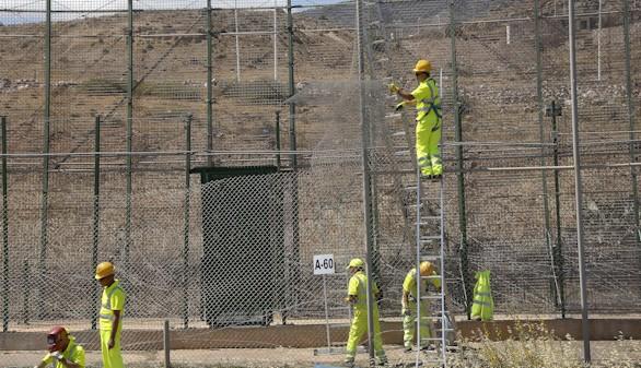 Calma en la valla de Melilla