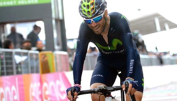 Giro. Valverde se impone en la llegada a Andalo