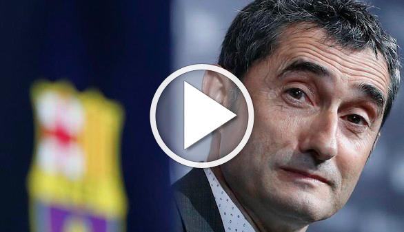 Valverde aterriza en el Barça prometiendo