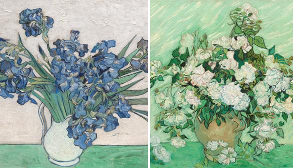 Reunidos por primera vez los últimos lirios y rosas pintados por Van Gogh