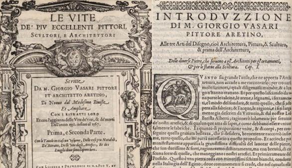 Digitalizada una edición de 'Las vidas' de Vasari, el primer biógrafo del arte