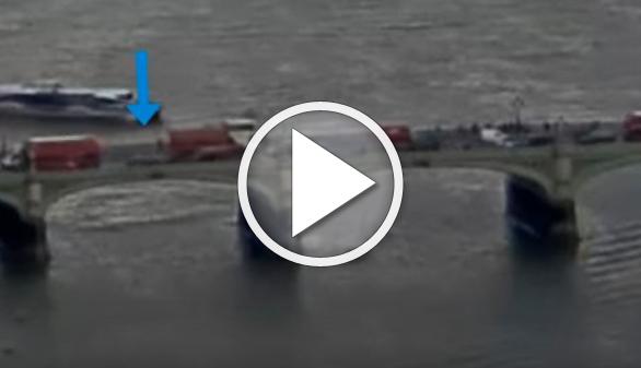 Vídeo del atropello en el puente de Westminster