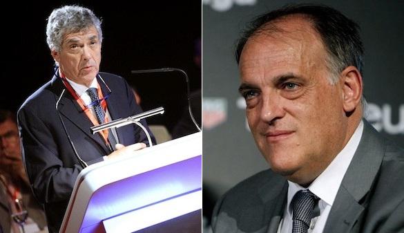 Tebas denuncia fraude de Villar en las elecciones de la RFEF
