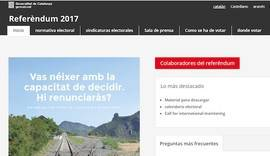 Puigdemont dice que hay un plan B para poder votar y saca una web con la lista de los colegios electorales