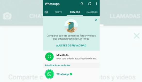 WhatsApp renueva las actualizaciones de estado con imágenes, vídeos y gifs