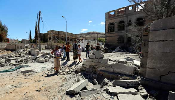 Al menos 25 muertos en Yemen en un bombardeo de la coalición árabe