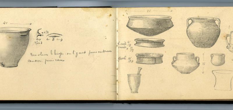 Cuaderno de dibujos y anotaciones