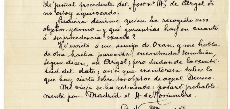 Carta a Francisco Álvarez Osorrio