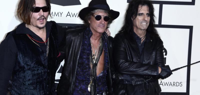 Johnny Depp, Joe Perry y Alice Cooper
