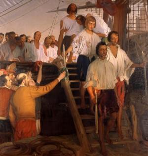 l regreso de Juan Sebastián de Elcano a Sevilla tras la primera circunnavegación del mundo (8 de septiembre de 1522) (Foto: Museo Naval)