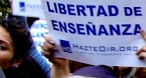 Manifestación por la libertad de ensañanza. Foto: HazteOir.org