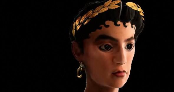 Reconstrucción facial de la Dama de Kemet (Foto:www.museuegipci.com)