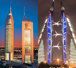 Emirates Office Towers y Bahrein WTC