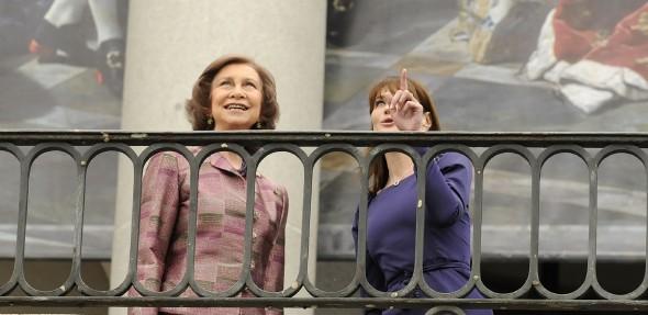 La Reina y Bruni, en el Prado. Manuel Engo