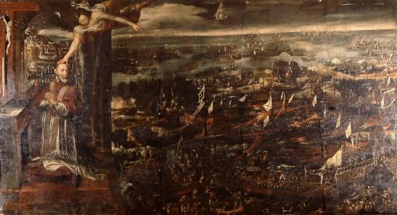 La revelación a San Pío V de la victoria de la Santa Liga en Lepanto (7 de octubre de 1571) Foto: Museo Naval